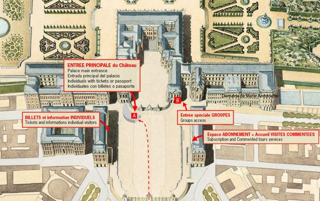 ヴェルサイユのエントランス地図