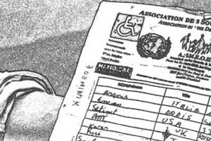 嘘の国連の署名用紙